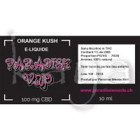 Paradise Vap E-Liquide CBD Orange Kush 1% 10ml